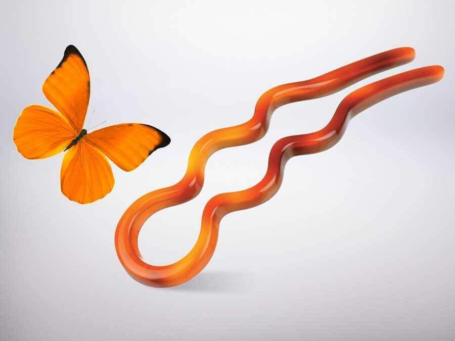 Kosmart hair stick - butterfly